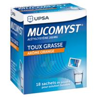 MUCOMYST 200 mg Poudre pour solution buvable en sachet B/18 à Pau