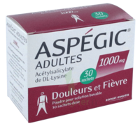 ASPEGIC ADULTES 1000 mg, poudre pour solution buvable en sachet-dose 30 à Pau