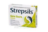 STREPSILS CITRON SANS SUCRE, pastille édulcorée à l'isomalt, au maltitol et à la saccharine sodique à Pau