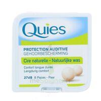 QUIES PROTECTION AUDITIVE CIRE NATURELLE 8 PAIRES à Pau