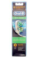 BROSSETTE DE RECHANGE ORAL-B DUAL CLEAN x 3 à Pau