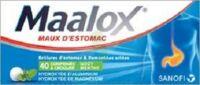 MAALOX HYDROXYDE D'ALUMINIUM/HYDROXYDE DE MAGNESIUM 400 mg/400 mg Cpr à croquer maux d'estomac Plq/40 à Pau