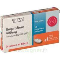 IBUPROFENE TEVA CONSEIL 400 mg, comprimé pelliculé à Pau