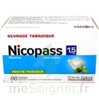 Nicopass 1,5 mg Pastille sans sucre menthe fraîcheur Plq/96 à Pau