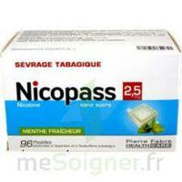 Nicopass 2,5 mg Pastille menthe fraîcheur sans sucre Plq/96 à Pau