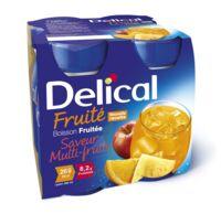 DELICAL BOISSON FRUITEE Nutriment multi fruits 4Bouteilles/200ml à Pau