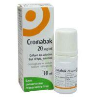 CROMABAK 20 mg/ml, collyre en solution à Pau
