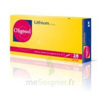 Oligosol Lithium Solution buvable en ampoule ou en récipient unidose 28Amp/2ml à Pau