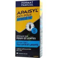 Apaisyl Anti-poux Xpress 15' Lotion antipoux et lente 200ml+peigne à Pau