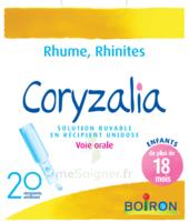 Boiron Coryzalia Solution buvable unidose B/20 à Pau